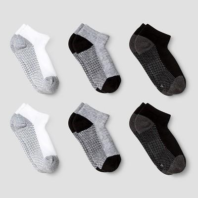 Boys' 6pk Athletic Low Cut Socks - Cat & Jack™ White/Gray/Black