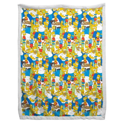 """60""""x90"""" The Simpsons Family Party Sherpa Blanket"""