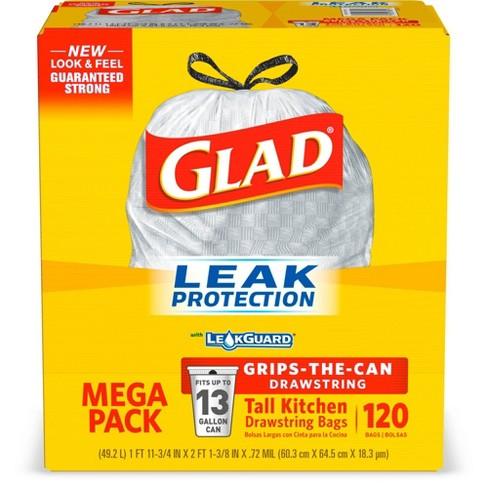 Glad Tall Kitchen Drawstring Trash Bags 13 Gallon 120ct