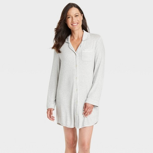 Women's Perfectly Cozy Nightgown - Stars Above™ Light Gray - image 1 of 3