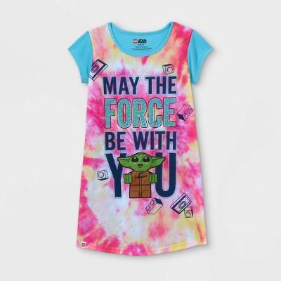 Girls' Star Wars Baby Yoda Lego Dorm NightGown - Pink