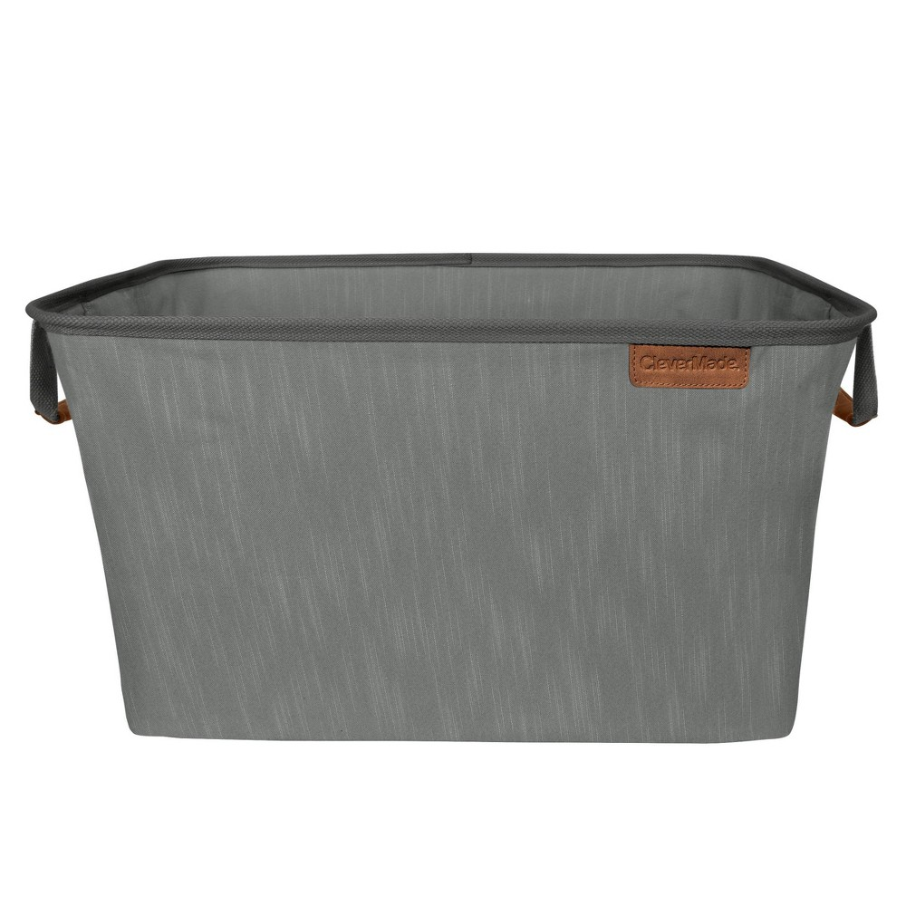 Image of CleverMade Laundry Basket LUXE - Gray