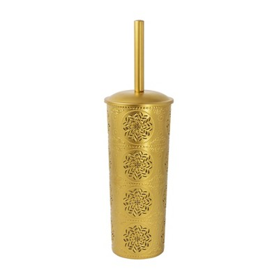 Punched Embossed Toilet Brush And Holder Set Gold - Opalhouse™