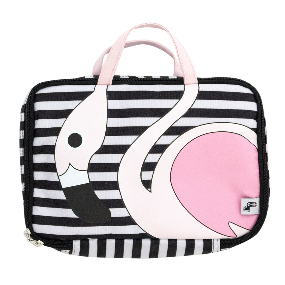 Image of Yoobi Flamingo Lunch Bag, Multi-Colored