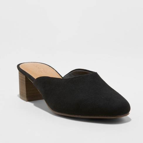 Women's Avianna Low Vamp Kitten Heeled Mules - Universal Thread™ - image 1 of 3