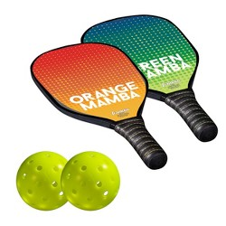 Franklin Sports Wood Paddle and Pickleball Set - 2 Player