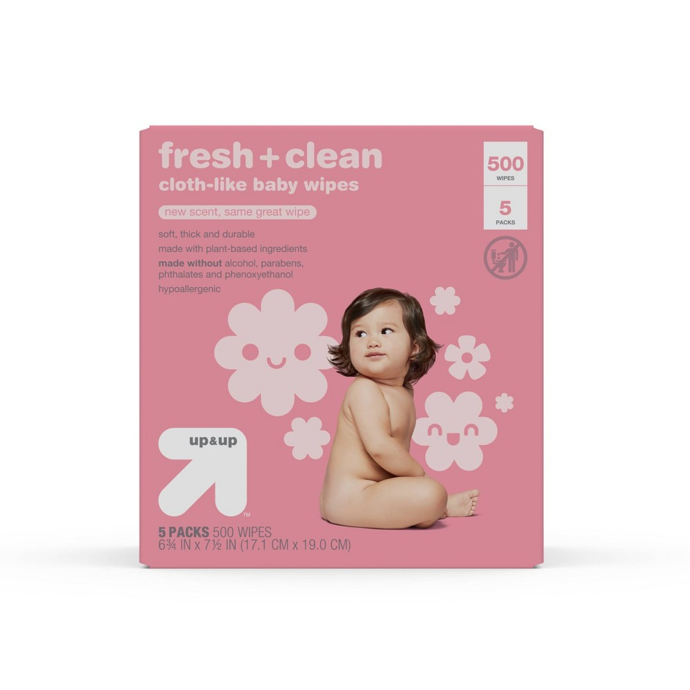 Scented Baby Wipes 500ct Up 38 Up 8482