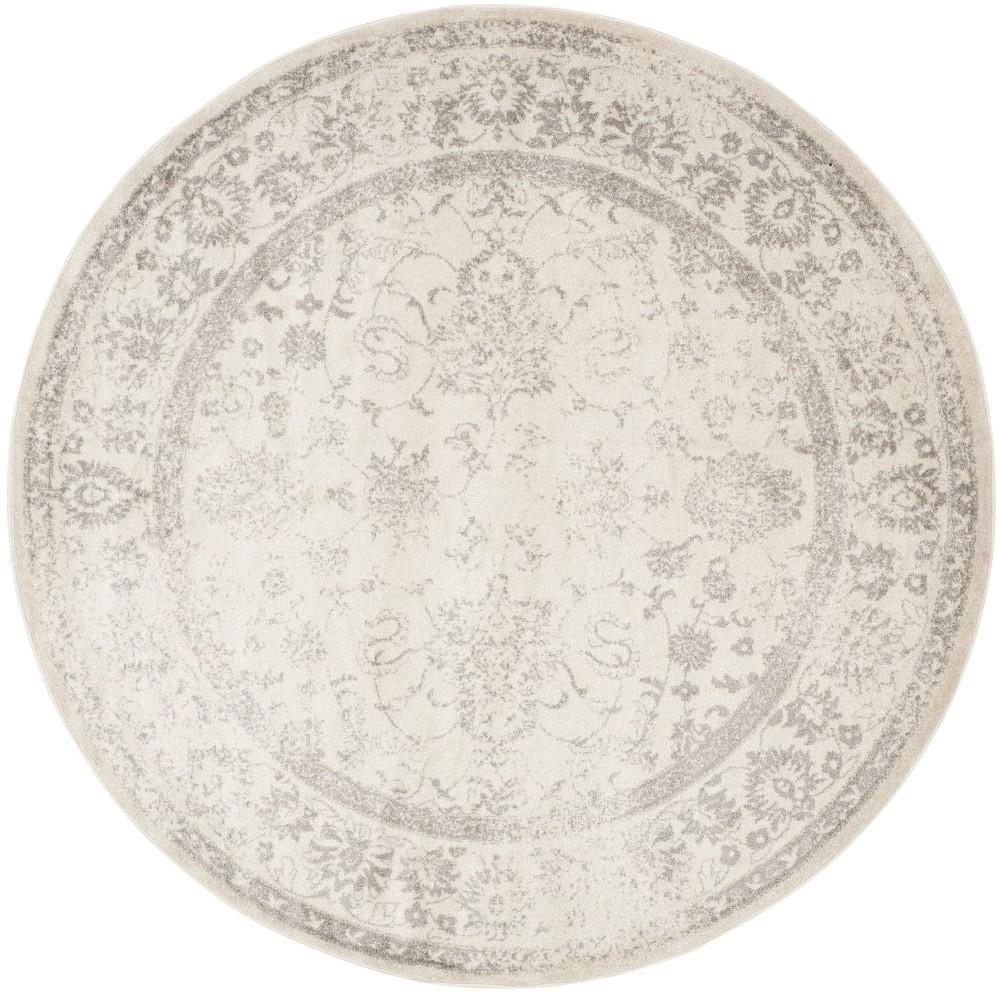 6'7 Spacedye Design Round Area Rug Ivory/Silver - Safavieh