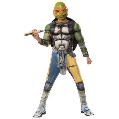 Kids' TMNT2 Michelangelo Halloween Costume - L