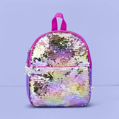 Girls' Flip Sequin Mini Backpack - More Than Magic™ Purple - image 1 of 3