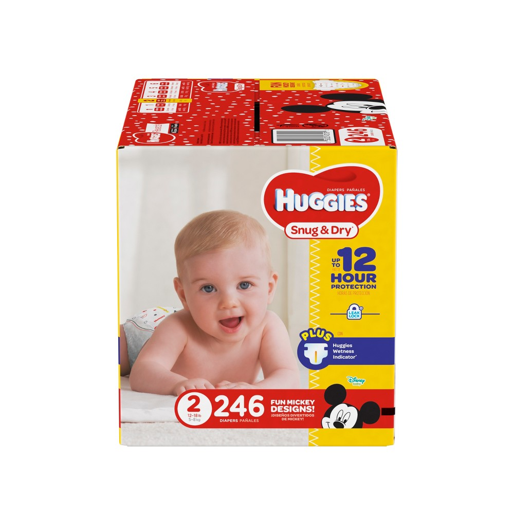 Huggies Snug & Dry Diapers - Size 2 (246ct)