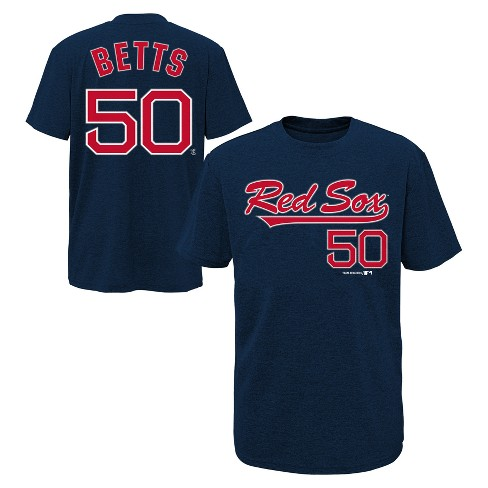 huge discount 87396 262f0 Boston Red Sox Boys' Short Sleeve Crew Neck Mookie Betts Jersey T-Shirt - XS