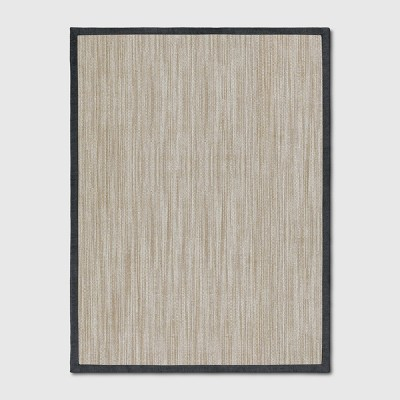 9'x12' Solid Woven Area Rug Charcoal Heather - Threshold™