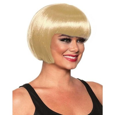 Underwraps Bob Cut One Size Adult Costume Wig | Blonde