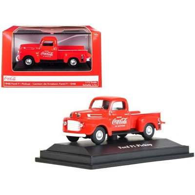 """1948 Ford F1 Pickup Truck """"Coca-Cola"""" Red 1/72 Diecast Model Car by Motorcity Classics"""