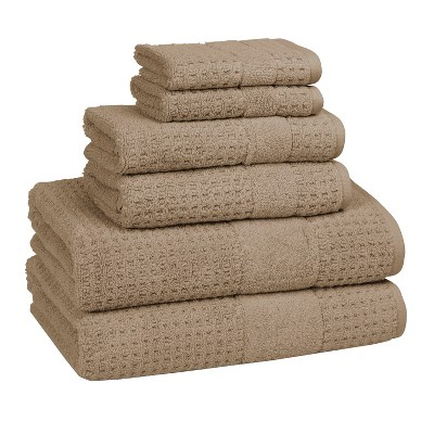 Hammam Set of 6 Towels Marble Tan- Kassatex
