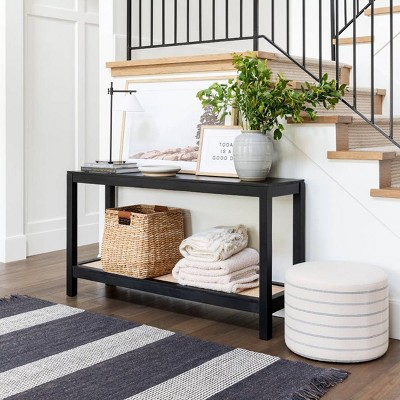 Black Console Table Front Entry Collection - Threshold™ designed with Studio McGee