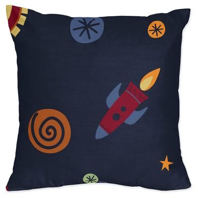 Navy Space Galaxy Throw Pillow - Sweet Jojo Designs