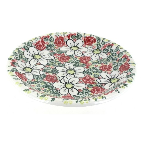 Blue Rose Polish Pottery Rose Garden Dinner Plate - image 1 of 1