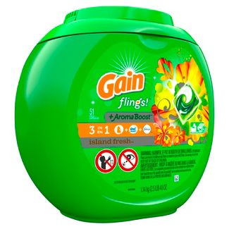 Gain flings! Island Fresh Laundry Detergent Pacs - 51ct