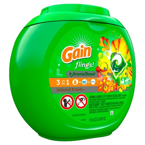 Gain flings! Island Fresh Laundry Detergent Pacs - 51ct - image 1 of 3