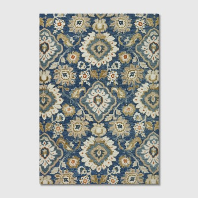 7'x10' Floral Tufted Area Rug Blue - Threshold™