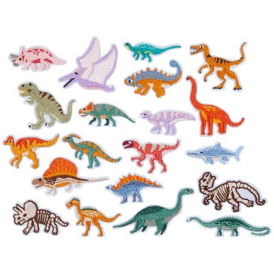 Bright Creations 20 Pieces Iron On Dinosaur Patches for Clothing