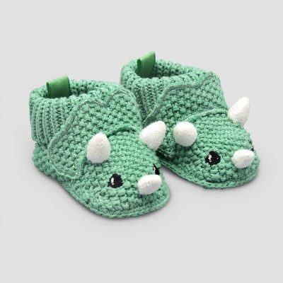Baby Boys' Knitted Dino Slipper Nb - Just One You® made by carter's Green Newborn