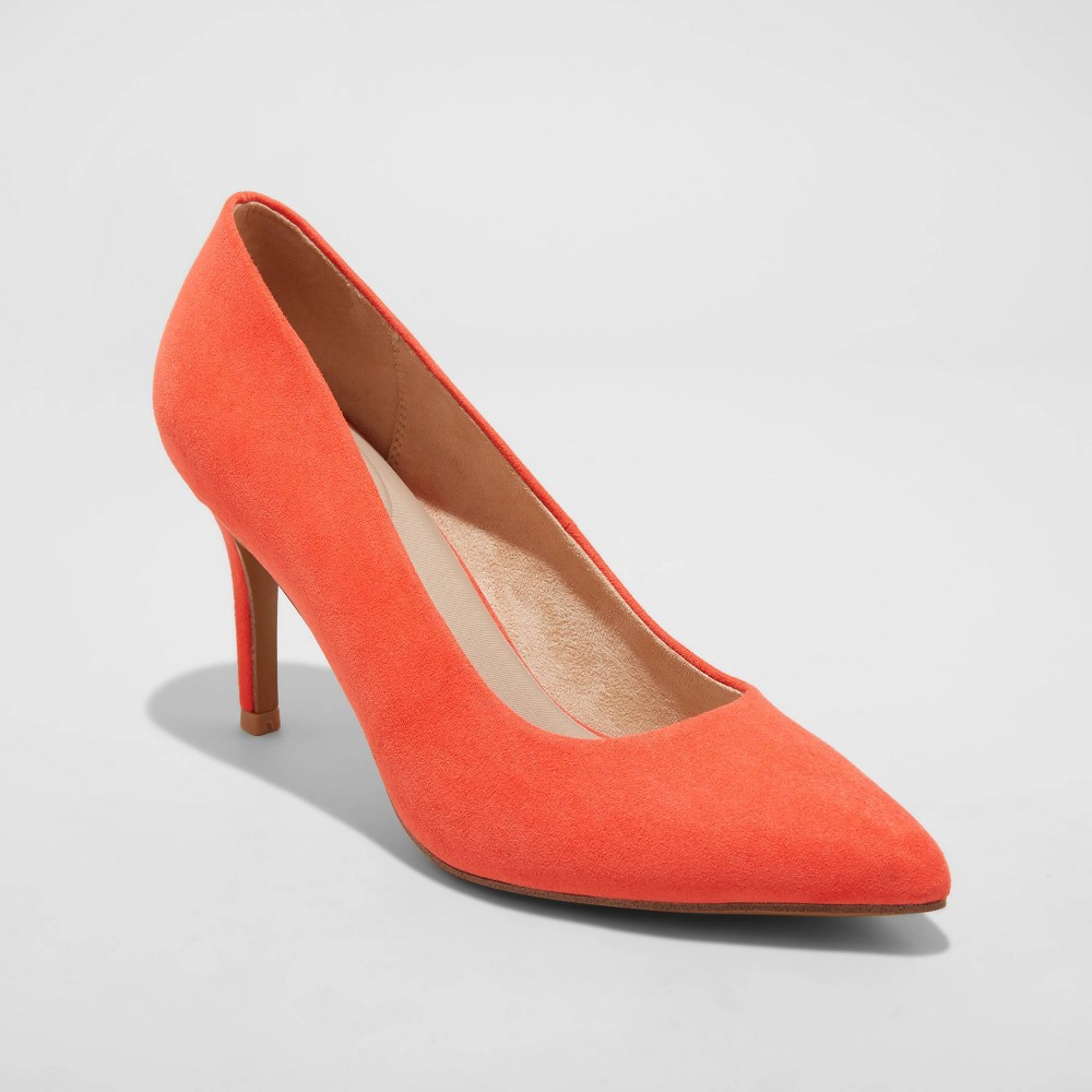 Women 39 S Gemma Pointed Toe Heels A New Day 8482 Coral 8 5