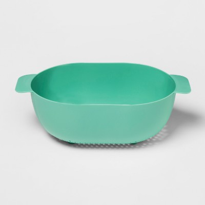 Plastic Colander 5qt Aqua - Room Essentials™