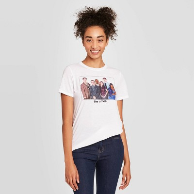 Women's The Office Short Sleeve Graphic T-Shirt - White