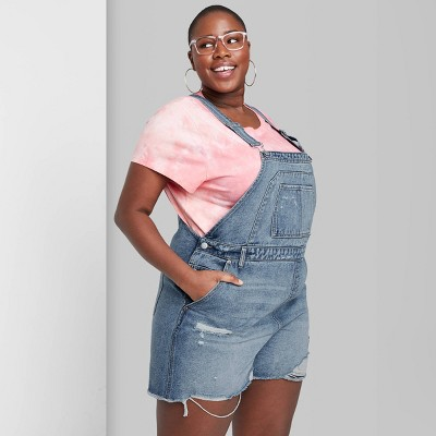 Women's Denim Shortalls - Wild Fable™