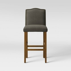 "28"" Camelot Nailhead Trim Barstool Hardwood - Threshold™"