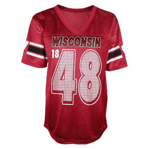NCAA Wisconsin Badgers Juniors' Football Jersey - Red - image 1 of 1