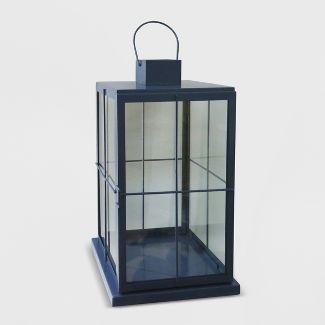 "18"" Square Outdoor Lantern Navy - Threshold™"