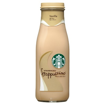Starbucks Frappuccino Vanilla Chilled Coffee Drink - 13.7 fl oz Glass Bottle
