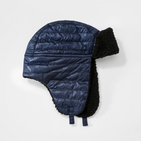 b6a2c266d49283 Boys' Puffer Trapper Hat - Cat & Jack™ Navy One Size : Target