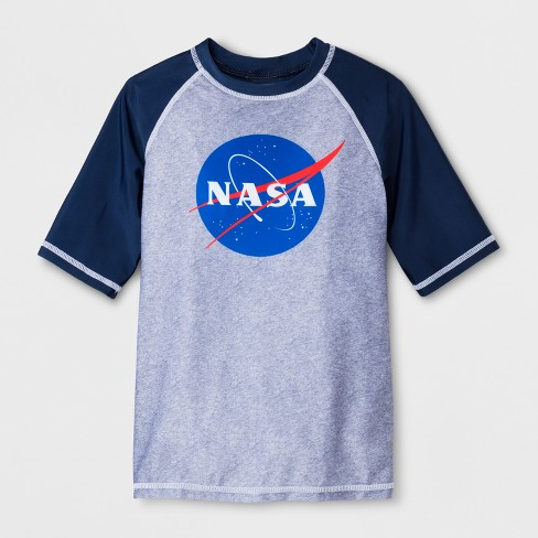 Boys' NASA Raglan Rash Guard - Blue - image 1 of 1
