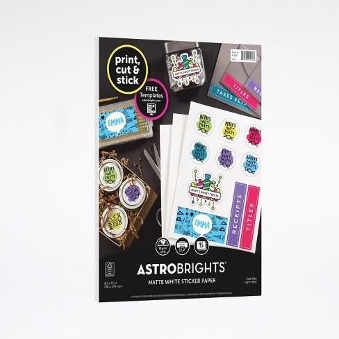 15ct matte sticker paper white - astrobrights : target