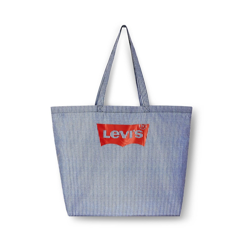 Striped Reusable Shopping Bag White Navy Levi 39 S 174 X Target