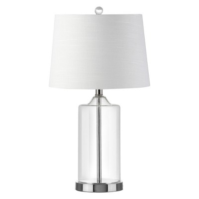25  Walsh Glass LED Table Lamp Clear (Includes Energy Efficient Light Bulb)- JONATHAN Y