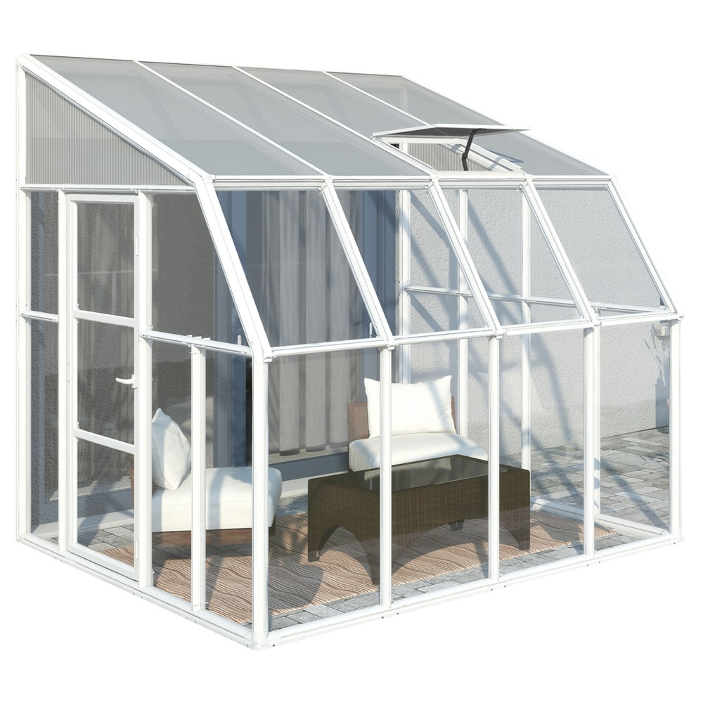Image of 8'X8' Sun Room 2 Greenhouse - White - Palram