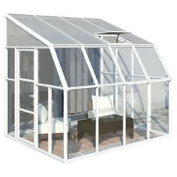 8'X8' Sun Room 2 Greenhouse - White - Palram