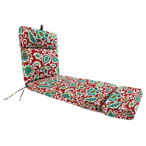 Outdoor French Edge Chaise Lounge Cushion - Berry Maroon - Jordan Manufacturing - image 1 of 3