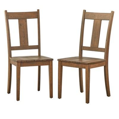 Set of 2 Athens Dining Chairs Walnut - Lifestorey