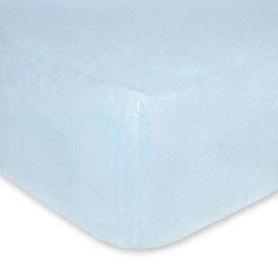 Burt's Bees Baby® Organic Jersey Fitted Crib Sheet - Sky Blue