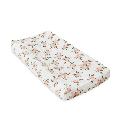 Little Unicorn Changing Pad Cover - Watercolor Rose