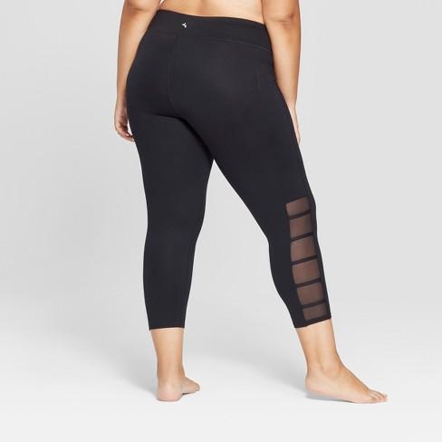 cdee978369c Women s Plus Comfort Lattice Mid-Rise Capri Leggings - JoyLab™ Black    Target