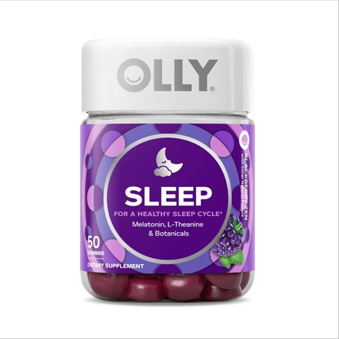 Olly Sleep Vitamin Gummies - Blackberry Zen - 50ct - image 1 of 4
