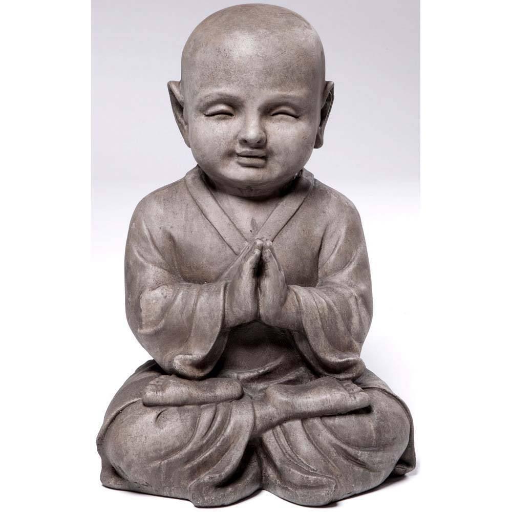 15 75 34 Indoor Outdoor Resin Praying Buddha Garden Statue Brown Alfresco Home Llc